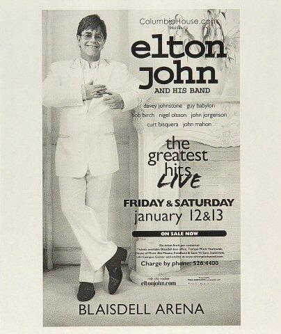 Elton John Handbill