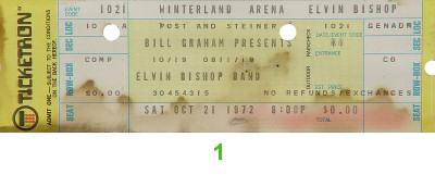 Elvin Bishop1970s Ticket