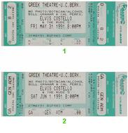 Elvis Costello 1990s Ticket