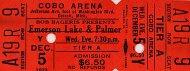Emerson, Lake & Palmer Vintage Ticket