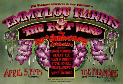 Emmylou Harris &amp; The Hot Band Poster