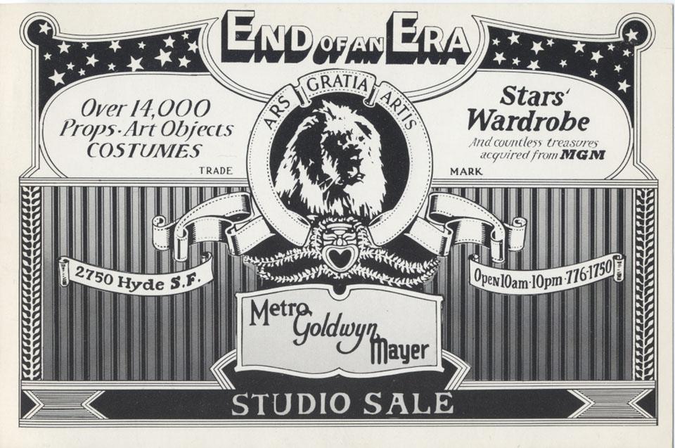 End Of Era Studio Sale Handbill