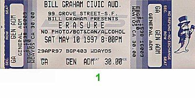 Erasure1990s Ticket