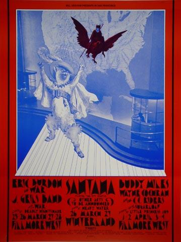 Eric Burdon &amp; War Handbill
