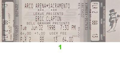Eric Clapton1990s Ticket