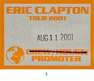 Eric Clapton Backstage Pass
