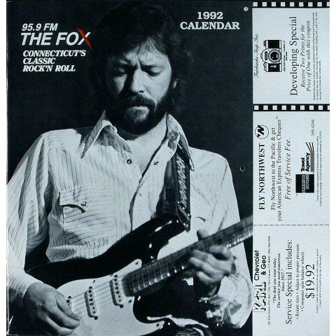 Eric Clapton Wall Calendar