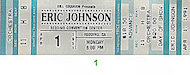 Eric Johnson Vintage Ticket
