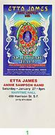 Etta James Vintage Ticket