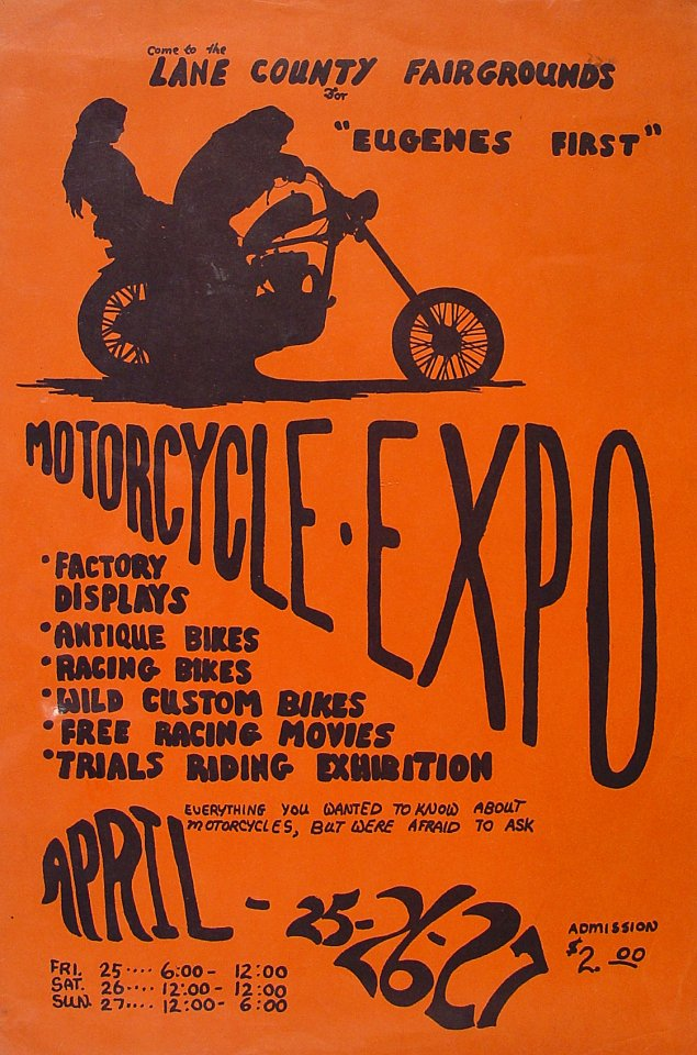 Eugene's First Motorcycle Expo Poster
