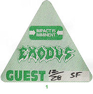 Exodus Backstage Pass