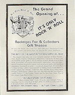 Fan and Collectors Gift Shoppe Handbill