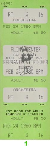 Ferrante and Teicher Vintage Ticket