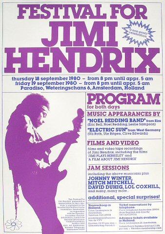 Festival for Jimi Hendrix Poster