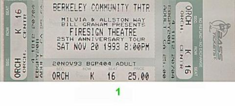 Firesign Theatre Vintage Ticket