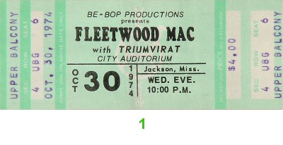 Fleetwood Mac1970s Ticket