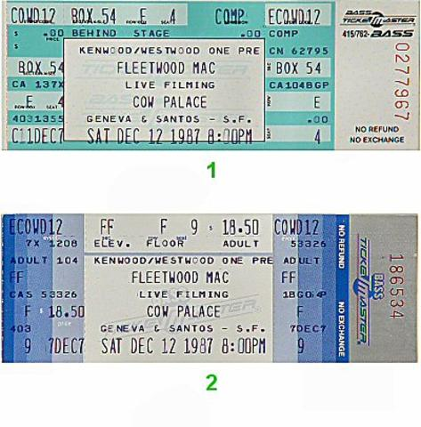 Fleetwood Mac Vintage Ticket
