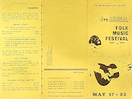 Folk Music Festival Program