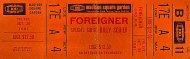 Foreigner Vintage Ticket