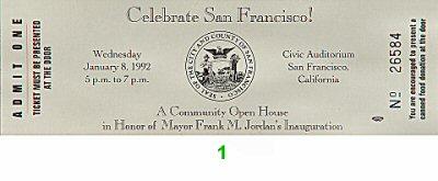Frank M. Jordan1990s Ticket