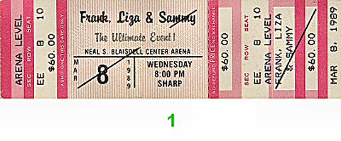 Frank Sinatra1980s Ticket