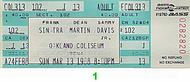Frank Sinatra 1980s Ticket