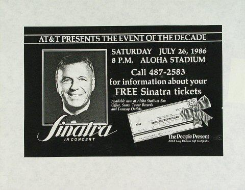 Frank Sinatra Handbill