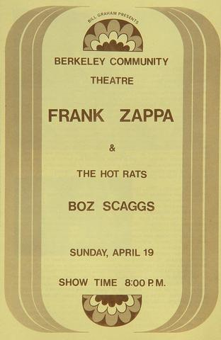 Frank Zappa & the Hot Rats Program