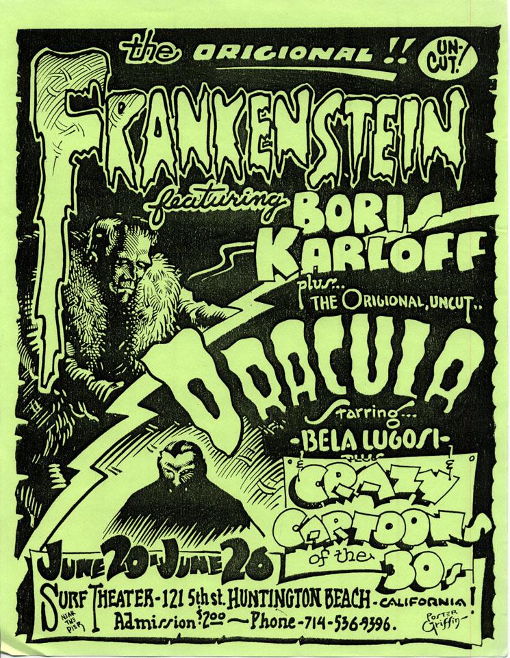 Frankenstein/Dracula Handbill