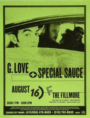 G. Love &amp; Special Sauce Handbill