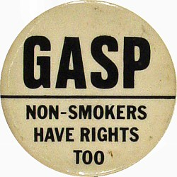 Gasp Non-Smokers Have Rights Too Vintage Pin