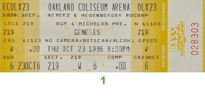 Genesis1980s Ticket