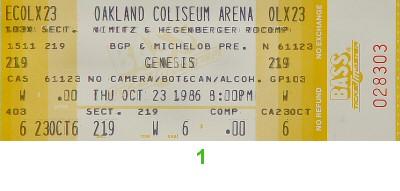 Genesis1980s Ticket