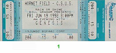 Genesis1990s Ticket