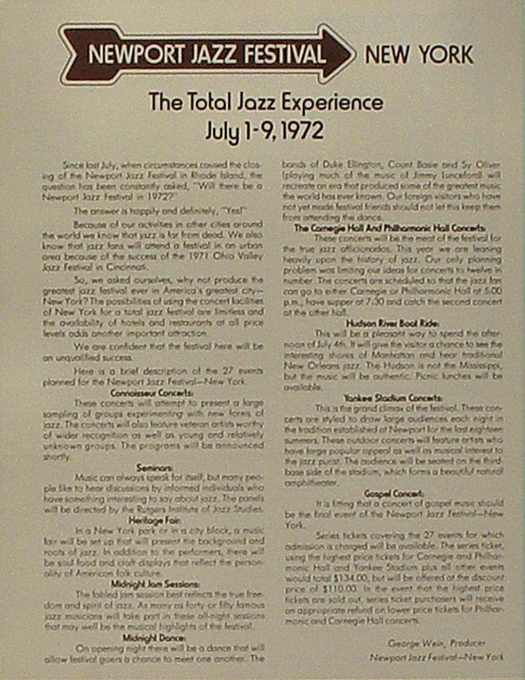 Giants of JazzProgram