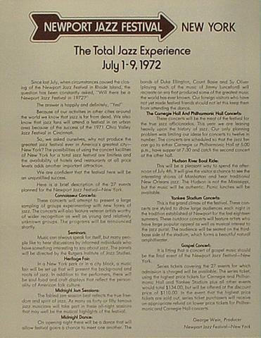 Bill Evans Trio Program