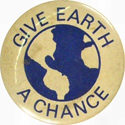 Give Earth A Chance Vintage Pin