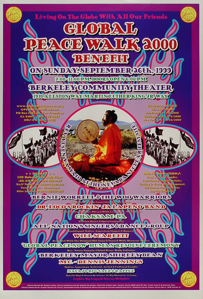 Global Peace Walk 2000 Benefit Poster