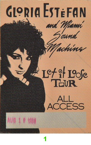 Gloria Estefan &amp; Miami Sound MachineBackstage Pass
