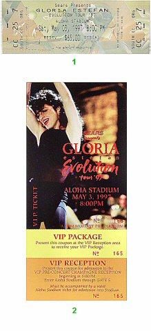 Gloria Estefan Vintage Ticket