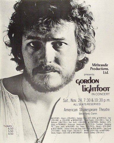 Gordon Lightfoot Poster