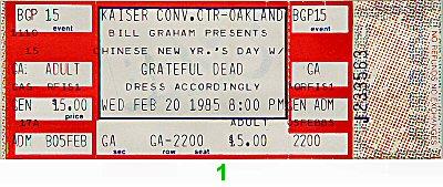 Grateful Dead1980s Ticket