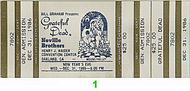 The Neville Brothers 1980s Ticket