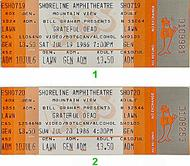 Grateful Dead 1980s Ticket