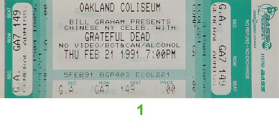 Grateful Dead1990s Ticket