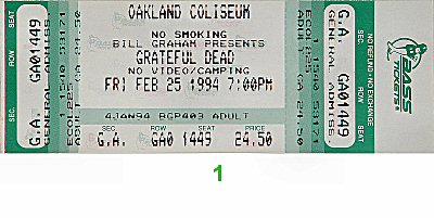 Grateful Dead1990s Ticket