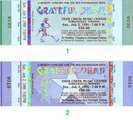 Grateful Dead 1990s Ticket