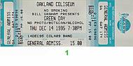 Green Day 1990s Ticket