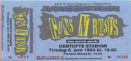 Guns N' Roses 1990s Ticket