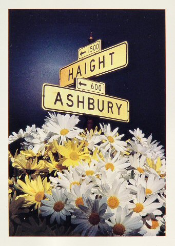 Haight Ashbury Street Sign Greeting Card